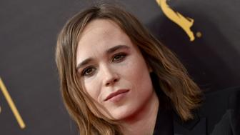 LOS ANGELES, CA - SEPTEMBER 11:  Actress Ellen Page arrives at the 2016 Creative Arts Emmy Awards at Microsoft Theater on September 11, 2016 in Los Angeles, California.  (Photo by Axelle/Bauer-Griffin/FilmMagic)