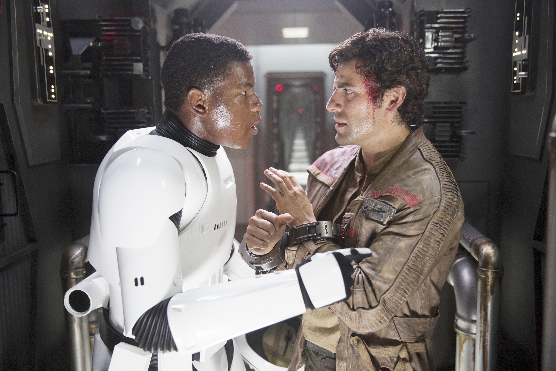 John Boyega and Oscar Isaac in 'Star Wars: The Force