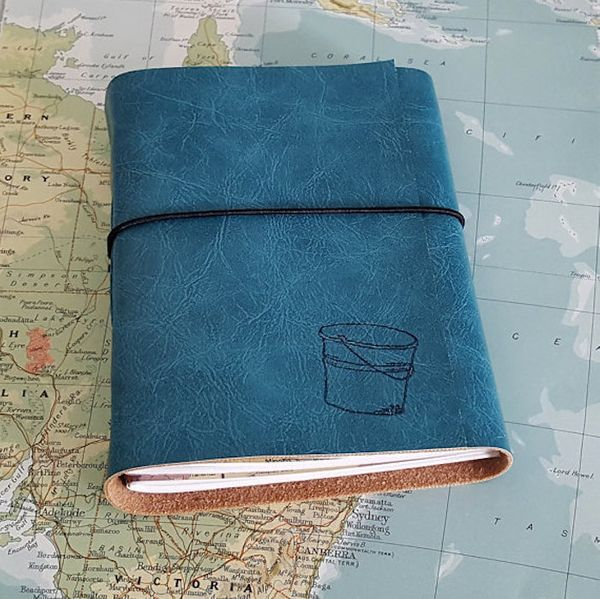 """$25, Tremundo Journals. <a href=""""https://www.etsy.com/listing/233519684/bucket-list-journal-with-maps-as-a?ref=related-3"""" tar"""