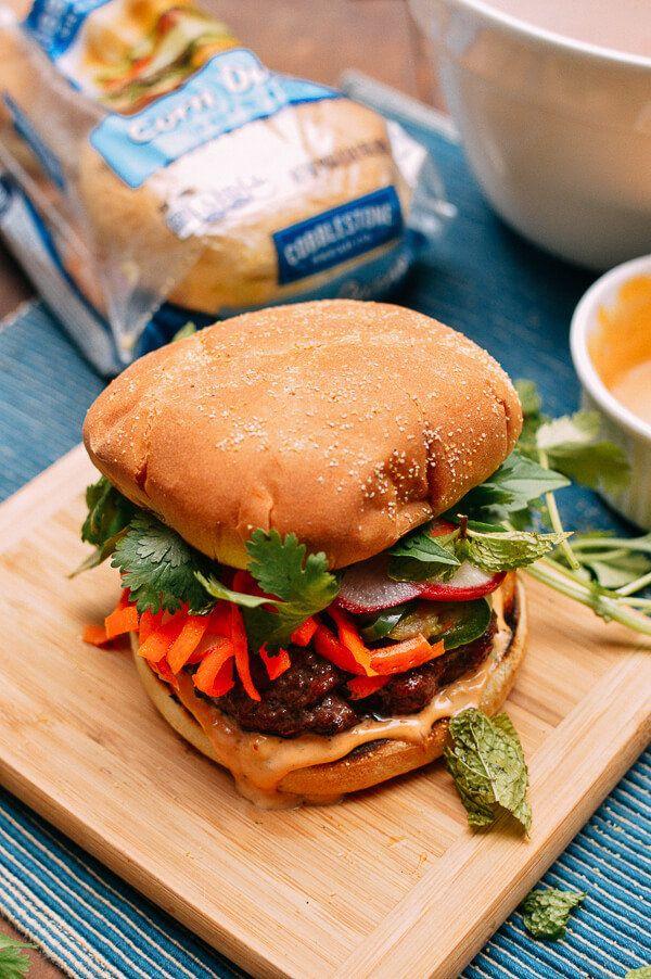 "<strong>Get the <a href=""http://thewoksoflife.com/2016/06/banh-mi-burger/"" target=""_blank"">The Bahn Mi Burger recipe</a>&nbsp"