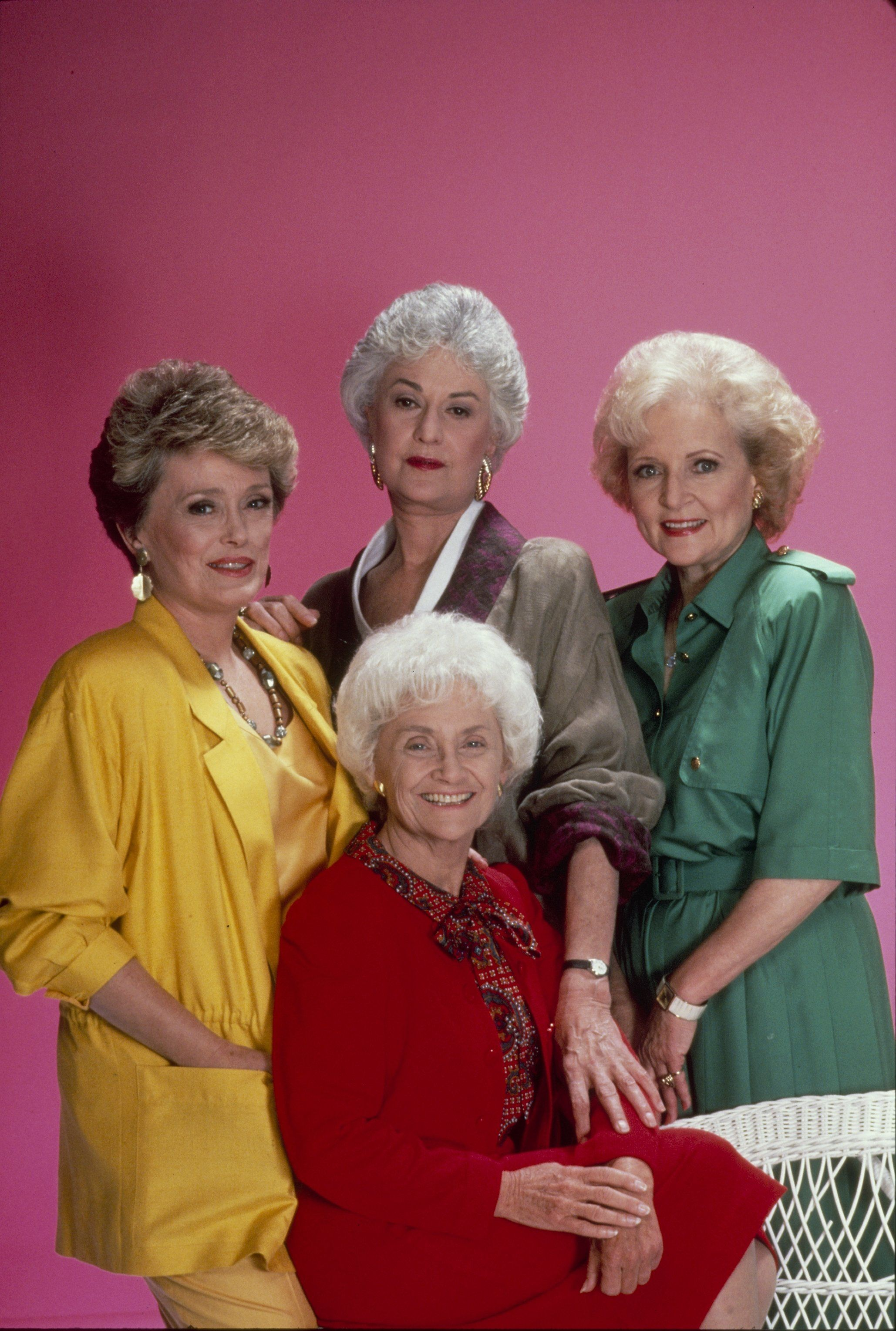 UNITED STATES - SEPTEMBER 24:  THE GOLDEN GIRLS - 9/24/85- 9/24/92, RUE MCCLANAHAN, ESTELLE GETTY, BEA ARTHUR, BETTY WHITE,  (Photo by ABC Photo Archives/ABC via Getty Images)