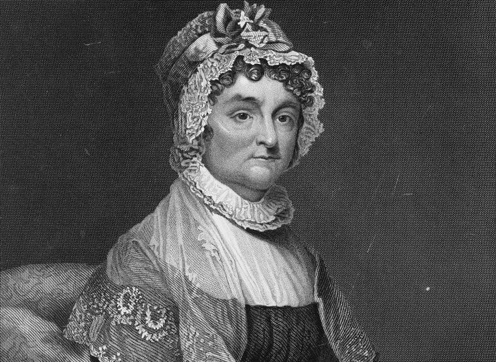 The face of Abigail Adams, a woman who takes no shit from no man.