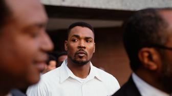 Afro-American Rodney King after the acquittal of the four LAPD officers who striked him with their batons on March 3, 1991. (Photo by Bill Nation/Sygma via Getty Images)