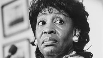 Rep. Maxine Waters, D-Calif., in 1993. (Photo by Maureen Keating/CQ Roll Call via Getty Images)'r'n