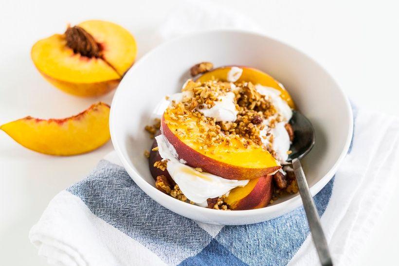 Peach Cobbler Parfait