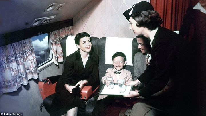 <p>Can you imagine dressing your child in a jacket and bowtie for a flight today?</p>