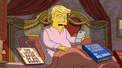 'The Simpsons' Puts A Deeply Dark Twist On Trump's 1st 100