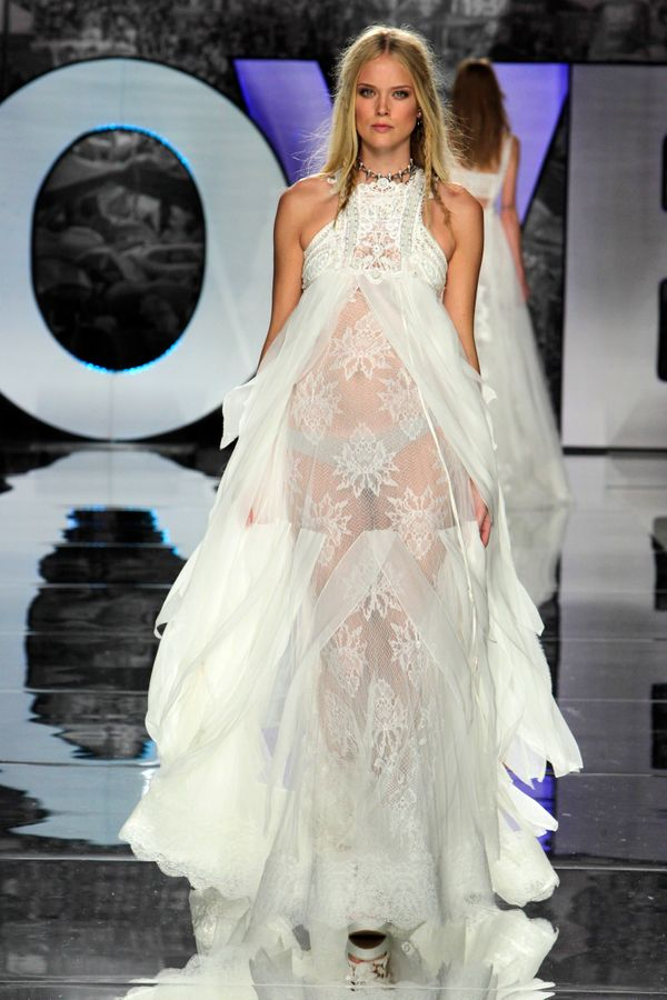 Sexy Naked Wedding Dresses from NYC Bridal Fashion Week 2017
