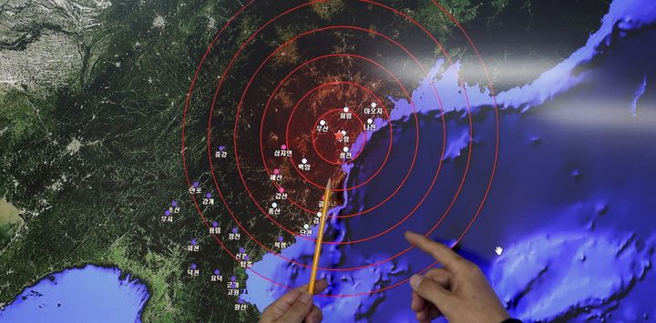 Seismic waves observed in South Korea after North Korea claimed it tested a hydrogen bomb on January 6 2016.