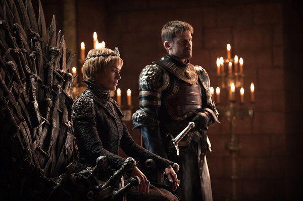 Lena Headey as Cersei and Nikolaj Coster-Waldau as Jaime in