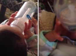 This Baby Fed Himself With A Bottle At Just 18 Days Old