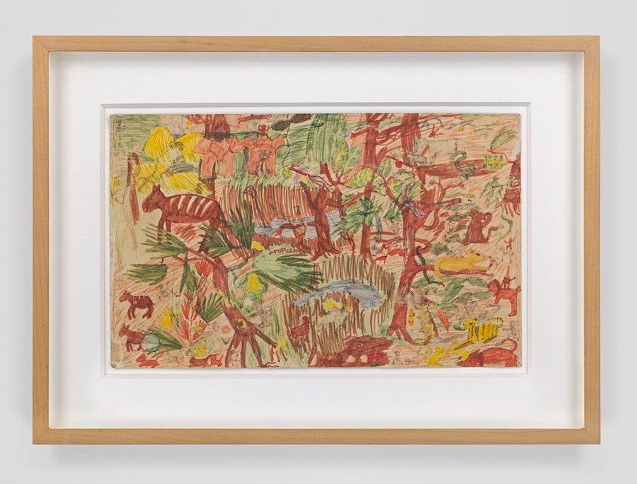 Cecily Brown's untitled marker-and-pencil drawing, which she created at age 8 or 9.
