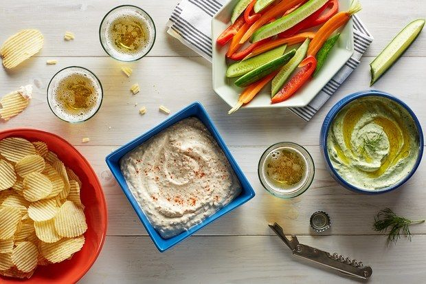 "Make <a rel=""nofollow"" href=""http://www.bonappetit.com/recipe/french-onion-dip?mbid=synd_huffpotaste"" target=""_blank"">French"