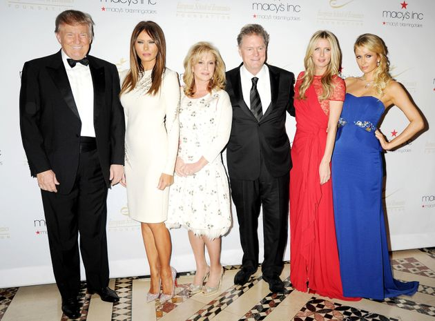 The Trump and Hilton families in