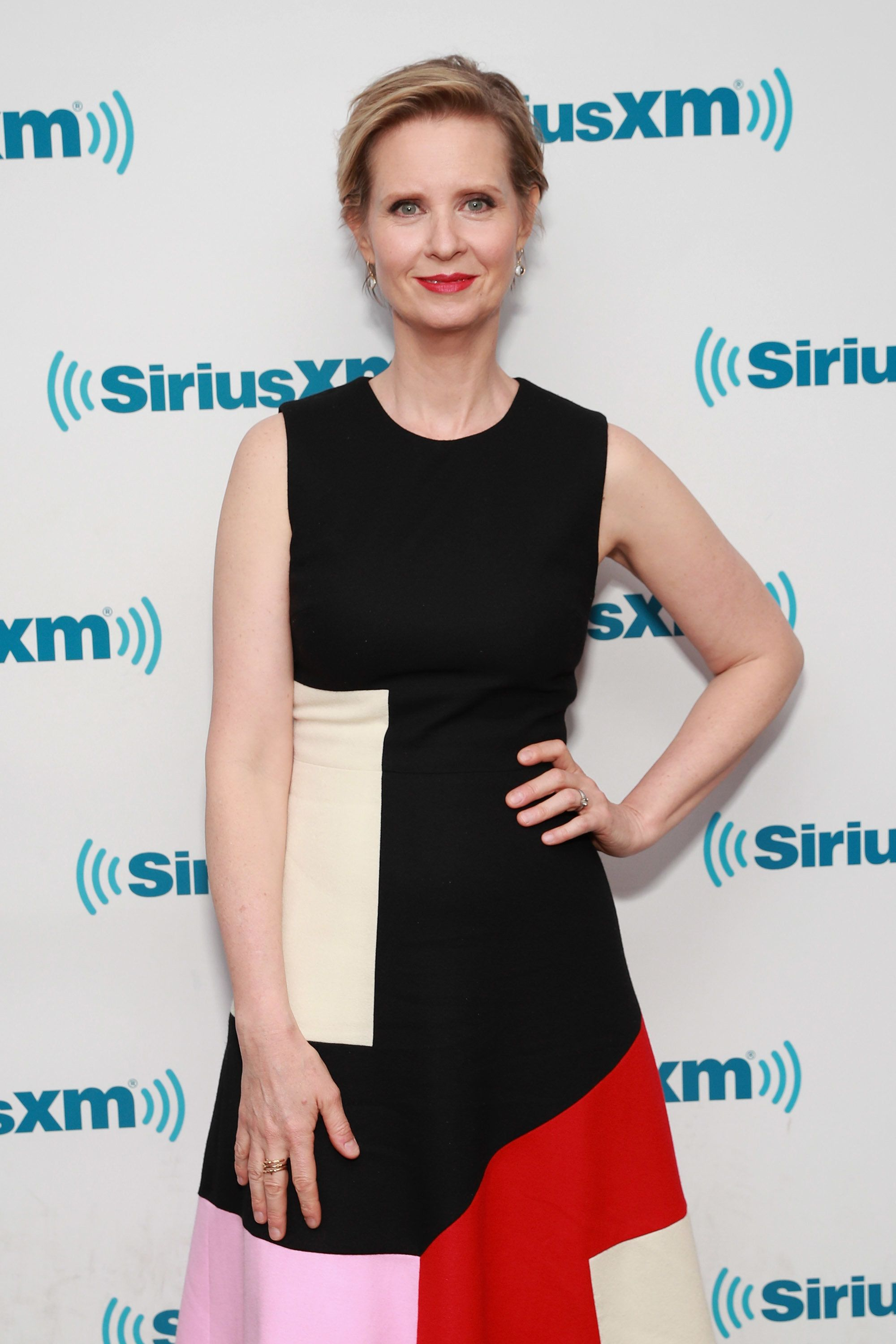 NEW YORK, NY - APRIL 21:  Actress Cynthia Nixon visits the SiriusXM Studios on April 21, 2017 in New York City.  (Photo by Cindy Ord/Getty Images)