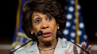 UNITED STATES - JUNE 4: Rep. Maxine Waters, D-Calif., speaks during a press conference with House Democrats on the Export-Import Bank in the Capitol on Thursday, June 4, 2015. (Photo By Bill Clark/CQ Roll Call)