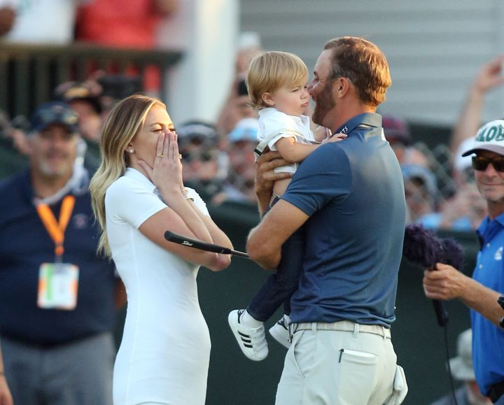 Johnson has enjoyed having his wife Paulina Gretzky and son Tatum accompany him on tour.