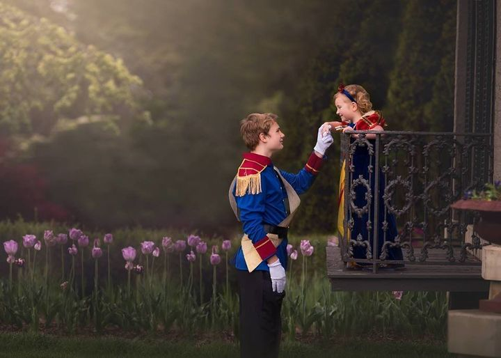 A photo shoot fit for a princess.
