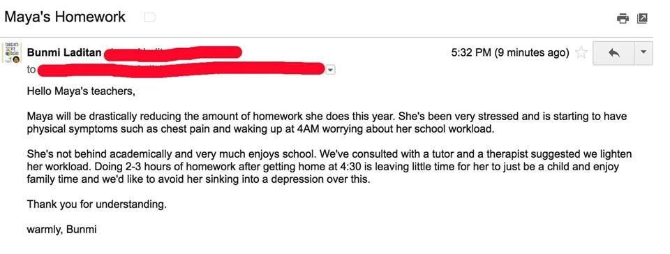 Mum Declares Her Daughter Is Done With Homework In Viral