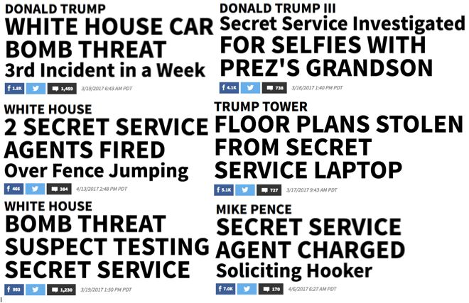 TMZ has been aggressively covering Secret Service security concerns.