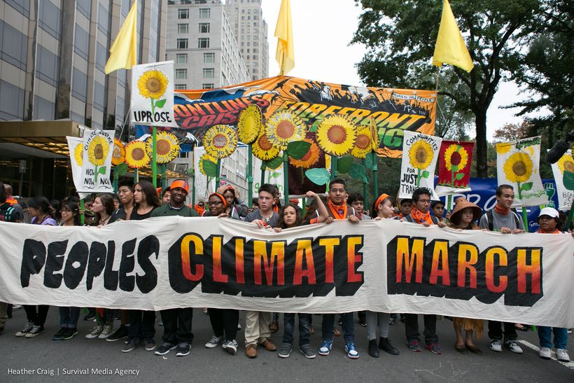 Young people band together at last year's Climate March to promote a healthy planet.