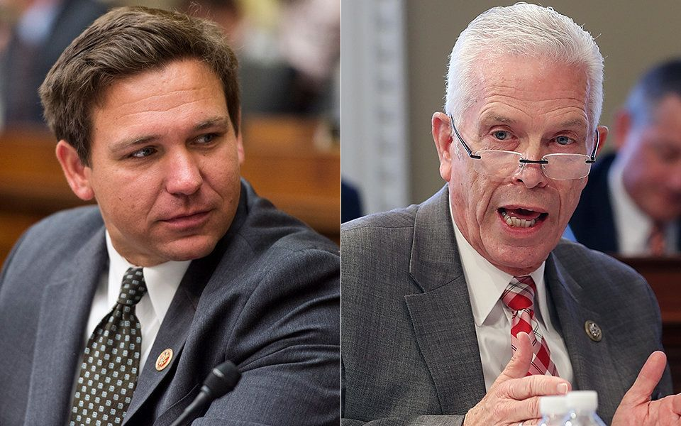 Rep Ron Desantis R-FL left and Rep Bill Johnson R-OH