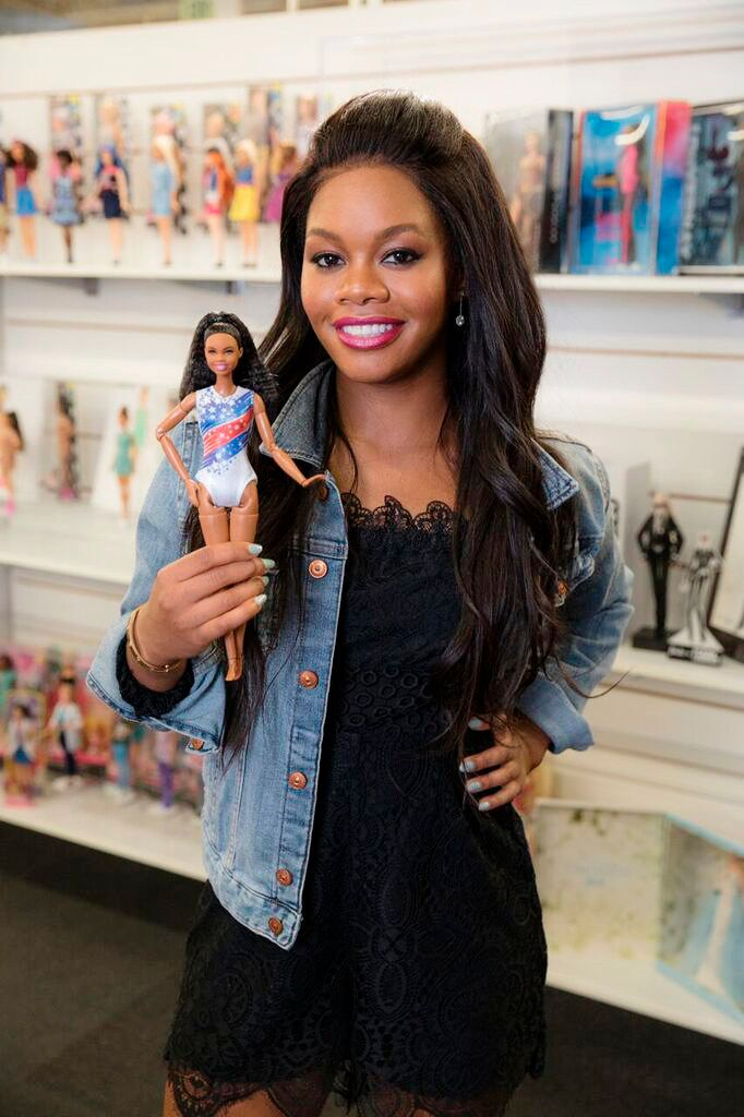 "Gabby & her new ""Shero"" Barbie doll."