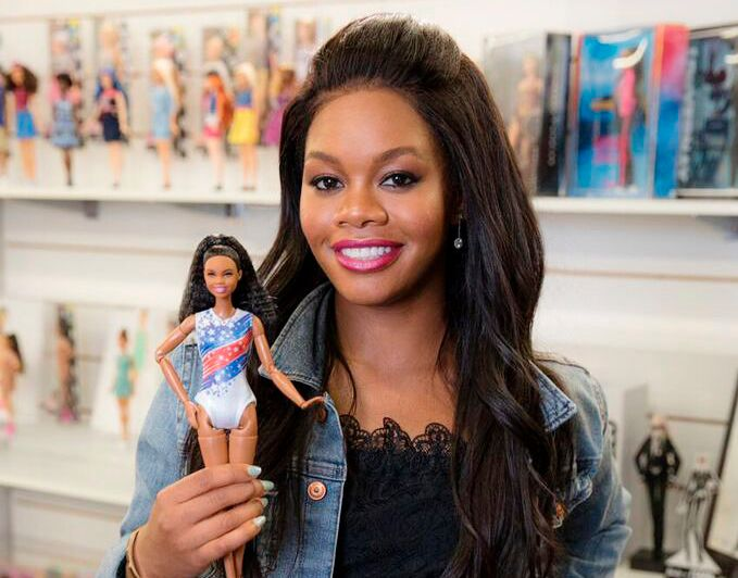 "Gabby & her new ""Shero"" Barbie doll."