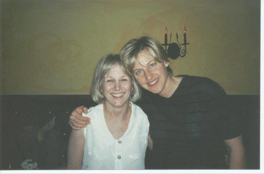 "Tracy Newman and Ellen DeGeneres during the making of ""The Puppy Episode."""
