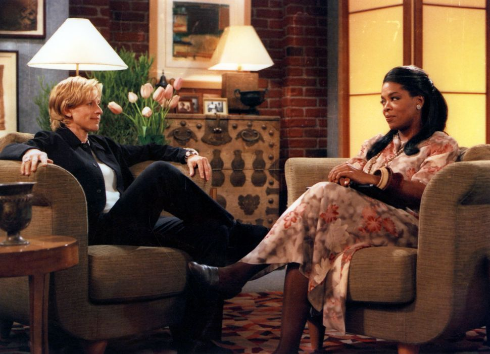 "Oprah Winfrey played Ellen DeGeneres' therapist in ""The Puppy Episode."""
