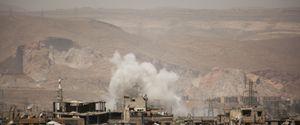 AIRSTRIKES SYRIA DAMASCUS 2017 APRIL ASSAD REGIME AIR FORCES