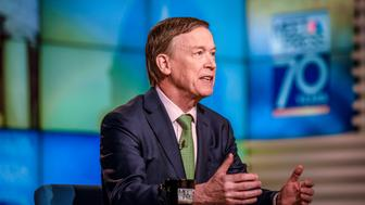 MEET THE PRESS -- Pictured: (l-r)  Gov. John Hickenlooper (D-CO) appears on 'Meet the Press' in Washington, D.C., Sunday, February 26, 2017. (Photo by: William B. Plowman/NBC/NBC NewsWire via Getty Images)