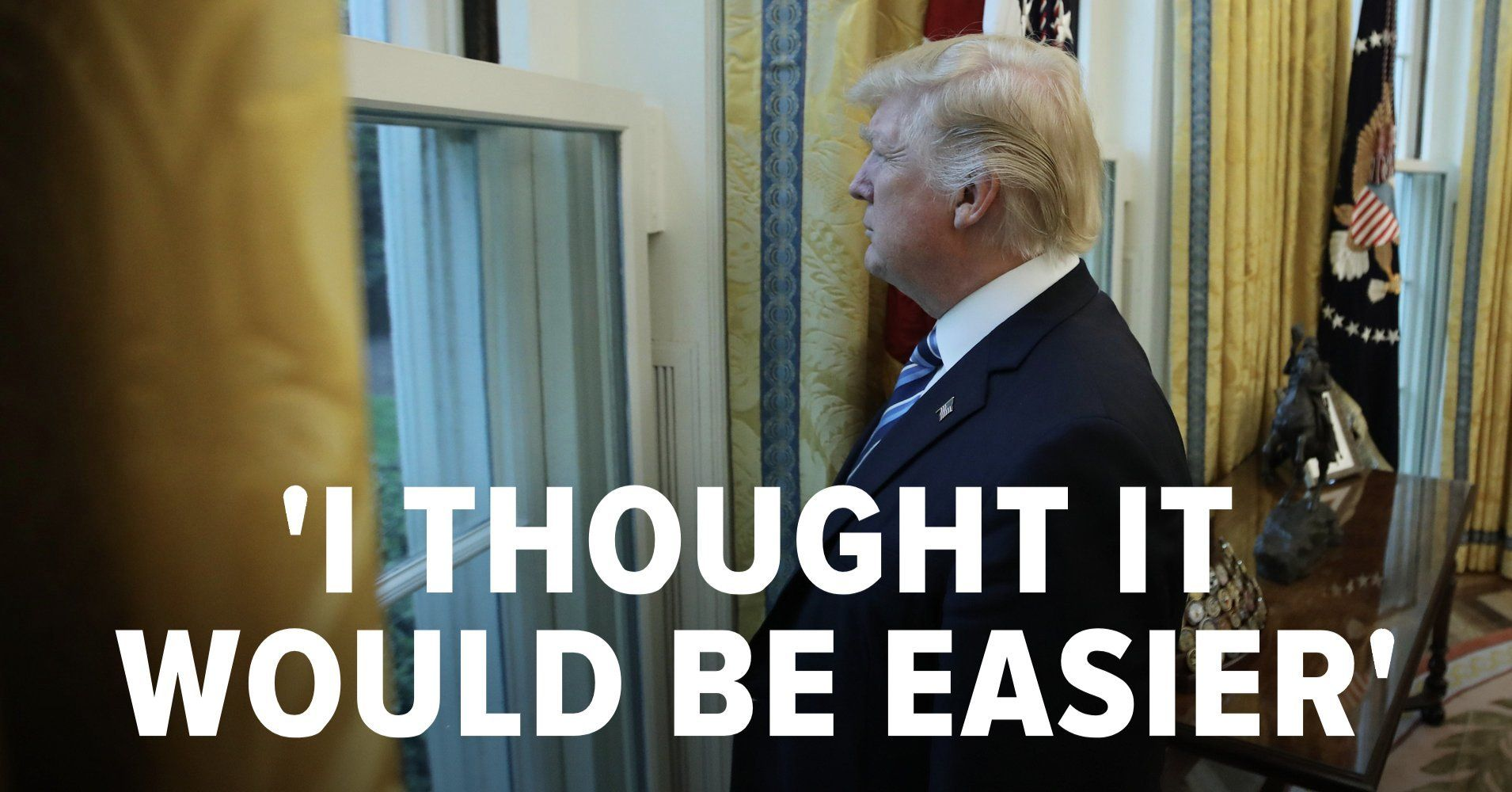 Trump Says He Thought Being President Would Be Easier Than ...