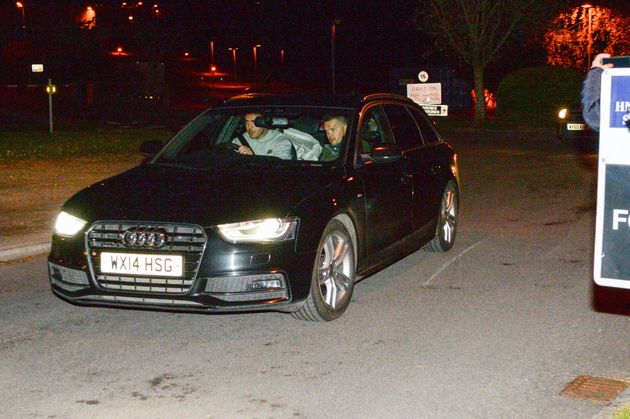 Blackman hid in the back of an unmarked police car as he was driven away from the prison near Devizes,...