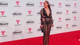 CORAL GABLES, FL - APRIL 27:  Jennifer Lopez attends Billboard Latin Music Awards - Arrivals at Watsco Center on April 27, 2017 in Coral Gables, Florida.  (Photo by Aaron Davidson/FilmMagic)