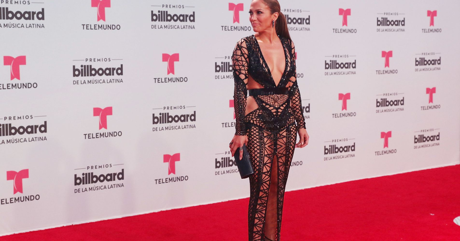 Jennifer Lopez Knocks Red Carpet Gown Out Of The Park At