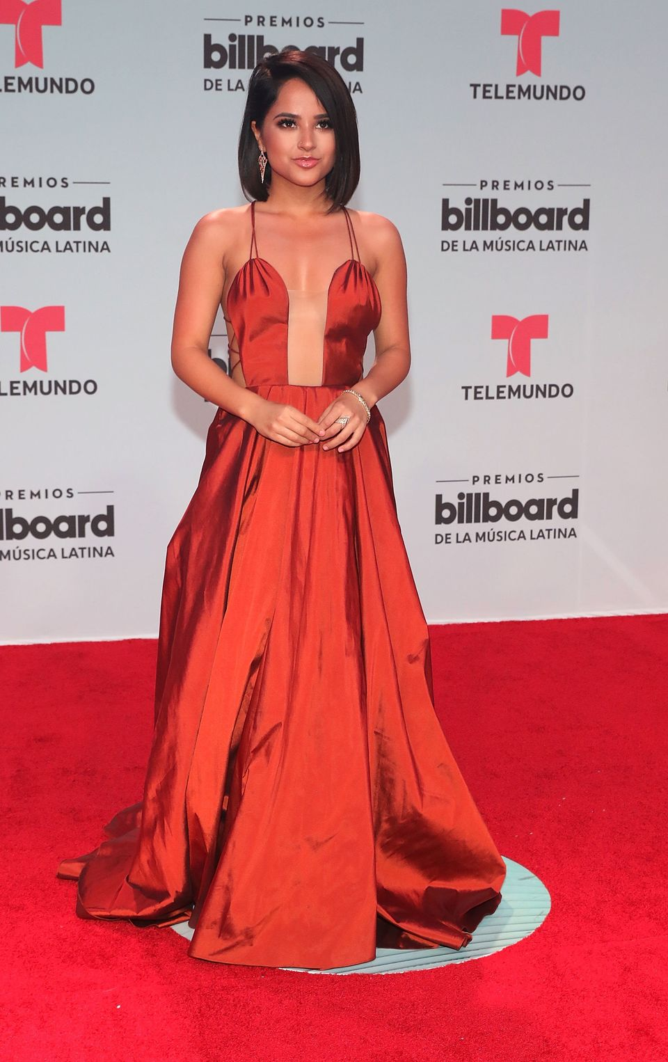 Becky G attends Billboard Latin Music Awards at Watsco Center on April 27, 2017 in Coral Gables, Florida. (Photo by Aaron Dav