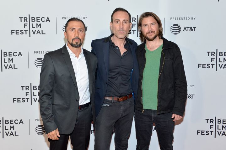 Fernando Trujillo, Producer Torus Tammer and Director Mark Grieco attend the 'A River Below' Premiere during 2017 Tribeca Fil