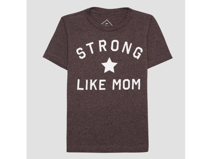 """$6.99,&nbsp;<a href=""""http://www.target.com/p/toddler-boys-strong-like-mom-short-sleeve-t-shirt-heather-charcoal/-/A-52405489"""" target=""""_blank"""">here</a>"""