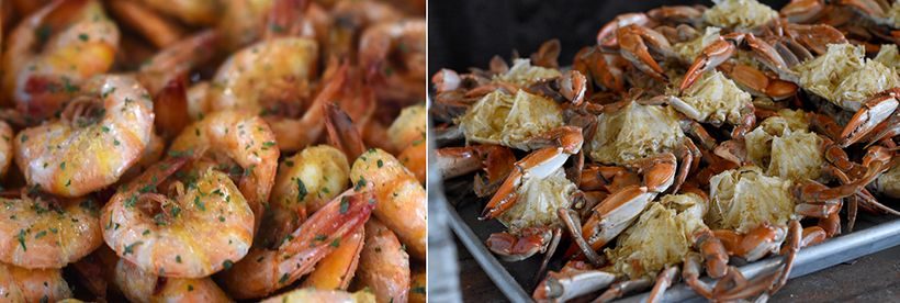 Sweet white shrimp and blue crab are plentiful in the grassy inlets and waters surrounding Beaufort.