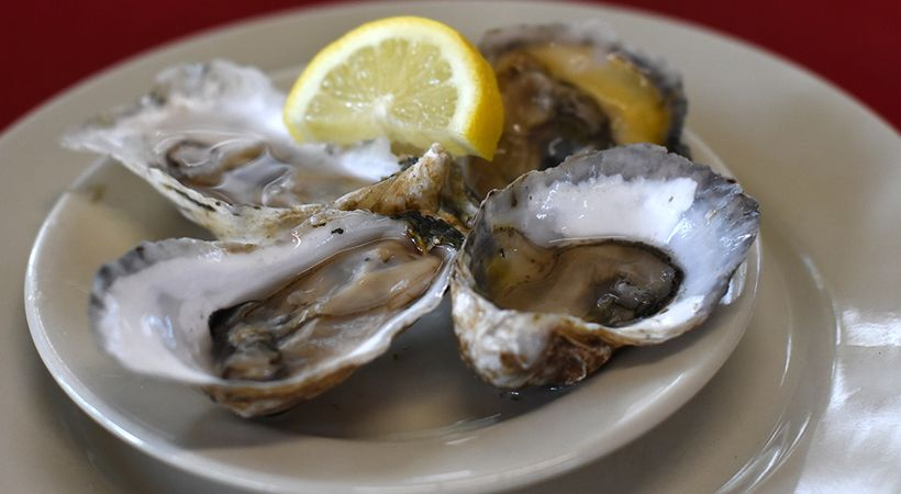 Substainably grown Lady's Island Oysters can be found at Beaufort area restaurants and markets.