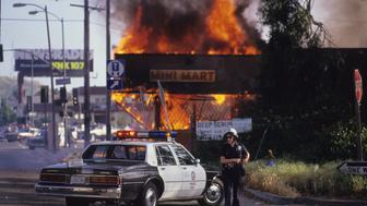 LA Riots 1992 (Photo by Mark Downey Lucid Images/Corbis via Getty Images)