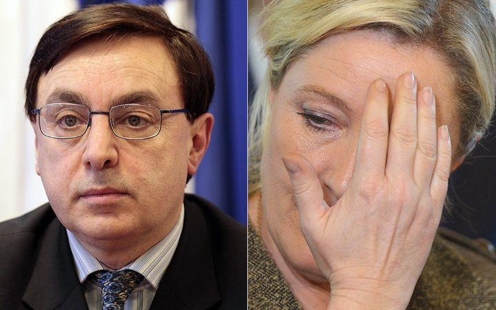 Ousted interim leader of France's National Front, Jean-François Jalkh (left), stepped down just days after repla