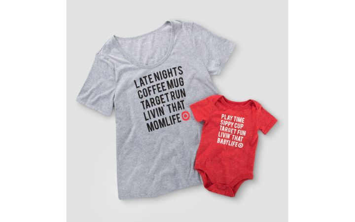"""$9 and $4.99,&nbsp;<a href=""""http://www.target.com/p/mom-life-baby-life-t-shirt-and-bodysuit-family-collection/-/A-52157785"""" target=""""_blank"""">here</a>"""
