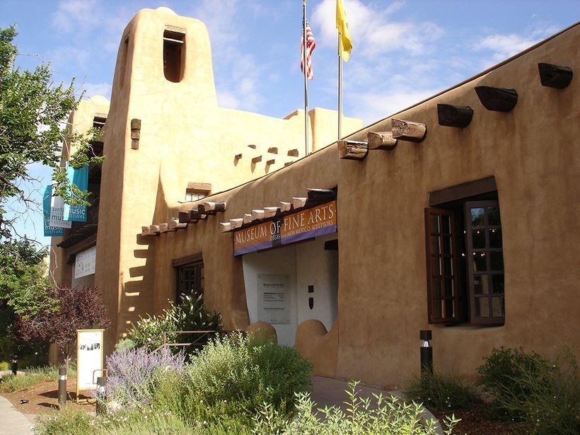 New Mexico Museum of Art façade. New Mexico Museum of Art.