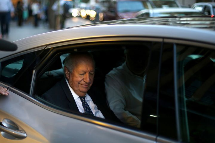 Ricardo Lagos bids adieu after withdrawing from the presidential race on April 10 2017.
