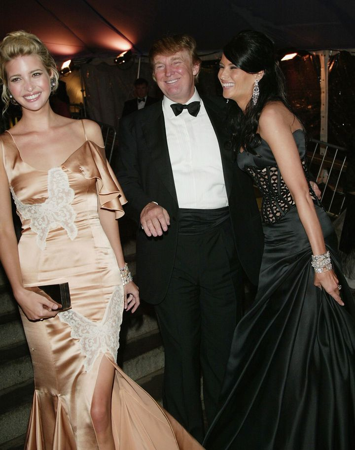 President Trump and his then-girlfriend Melania at the gala with Ivanka in 2004.