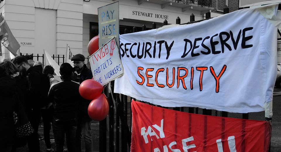 'Security Deserve Security': a protest against so-called 'short hours' contracts this