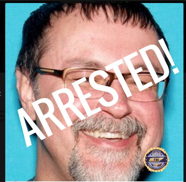Tad Cummins in a police handout photo released on social media after his capture.
