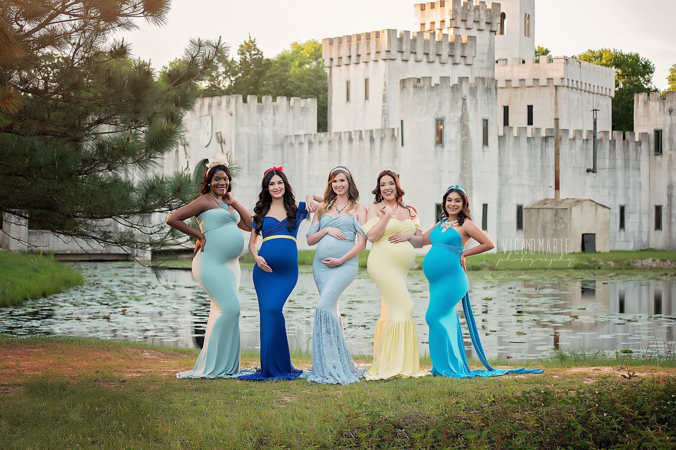 Victor and Marie Luna, a husband-wife photography team in Texas, put together a Disney princess-themed maternity shoot.